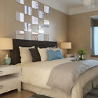 6 Piece Self-adhesive Square Mirror Wall Tile Sticker Decal 14-28cm for Pick