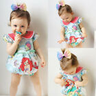 USA Newborn Kid Baby Girls Cute Mermaid Romper Bodysuit Jumpsuit Outfits Clothes