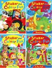 STICKER AND COLOUR FUN BOOKS LEARNING PRACTICE TODDLER BOYS GIRLS