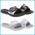 NEW Puma Women Ladies' Slide Sandal, Black / White, PICK SIZE COLOR