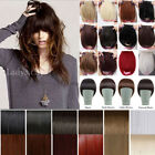 Fahion Lady Front Bangs Blonde Brown Straight Fringe Clip In Hair Extensions FO