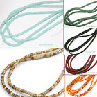 4mm Heishi Beads temporarily strung 16in. Long assorted stones pick stone