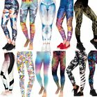 New Women 3D Printed Leggings Running Gym Stretch Sports Pants Trousers