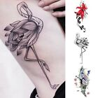Sexy Flower Waterproof Flash Temporary Tattoos Stickers Fake Body Art Decal
