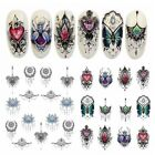 3PCS Jewelry Necklace Nail Art Water Transfer Sticker Decor Manicure Tips Decals