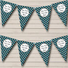 Blue Camouflage Army Soldier Personalized Birthday Party Bunting Flag Banner
