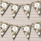 Brown Camouflage Personalized Children's Birthday Party Bunting Flag Banner