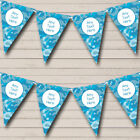 Blue Camouflage Personalized Birthday Party Bunting Flag Banner