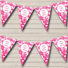 Pink Camouflage Personalized Carnival Fete Street Party Bunting Flag Banner