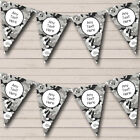 Black Grey Camouflage Personalized Children's Birthday Party Bunting Flag Banner