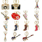 Trendy High-heeled Shoes Keyring Women Crystal Rhinestone Key Bag Chain Pendant