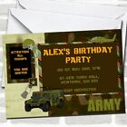 Army Soldier Camouflage Birthday Party Invitations