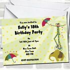 Circus Themed Party Invitations