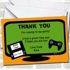 Computer Video Console Games Birthday Party Thank You Cards