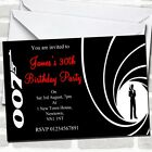 James Bond Party Invitations $10.95 USD on eBay