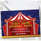 Circus Tent Theme Birthday Party Invitations