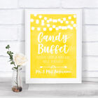 yellow candy buffet - Yellow Rustic Lights Candy Buffet Wedding Sign Print