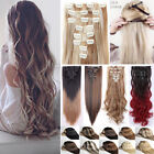 100% Real Natural 8 Pieces Clip In Ins as Human Hair Extensions Full Head FO1
