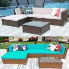 5pc Patio Sofa And Table Set Outdoor Indoor Sectional Garden Furniture Lawn J4m0