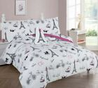 Paris Eiffel Tower Kids/Teens In a Bag COMFORTER Bed Plush Toy Sheet Set