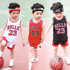 Внешний вид - HOT Kids Baby Boys Girls #23 Michael Jordan Bulls Basketball Jerseys Short Suits