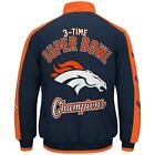 Denver Broncos 3 Time Super Bowl Champions Classic  fleece jacket Blue on eBay