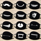 Cotton Mouth Face Mask Cover Respirator Cycling Anti-Dust Anime Emoji Black US