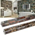 3D Wall Paper Brick Stone Rustic Effect Self adhesive Wall Sticker Home Decor k