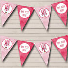 Pink Hot Air Balloon Personalized Childrens Party Bunting Banner