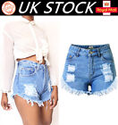 Girls Vintage Ripped Womens High Waisted Stonewash Denim Shorts Jeans Hot Pants