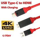 USB 3.1 Type-C to HDMI HDTV TV Adapter Cable 4K HD For Samsung Galaxy S10 5G S9