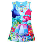 Summer Newest Kids Girls Poppy Trolls Sleeveless Dress Casual Party Vest Dresses image