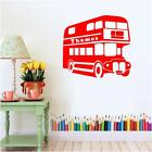 Bus Sticker Double Decker London Personalised Wall Decal Bedroom Art Mural
