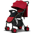 Foldable Baby Stroller Pram Travel Pushchair Infant Buggy Lightweight Adjustable