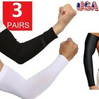 3 Pairs (6pcs) Cooling Arm Sleeves Cover Basketball Golf Sport UV Sun Protection