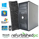 CLEARANCE! Fast Dell Tower Computer PC Core 2 Duo Windows 10 7 XP Keyboard Mouse