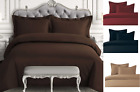 2/3P SET SOLID CHIC DUVET COMFORTER BED DRESSING TOP COVER BEDROOM MODERN DECOR  image