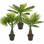 Artificial Palm Tree Plant Pot Home Office Exotic Tropical Decoration Realistic