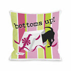 Bottoms Up   Throw 16 or 18 Inch Throw Pillow by Dog is Good