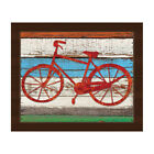 'Rustic Bicycle' Framed Canvas Wall Art