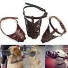Puppy Leather Stop Chewing Muzzle Safety Adjustable Pet Dog No Bite Mouth Mask