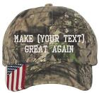 YOUR TEXT Custom Donal Trump Make America Great Again Embroidered CAMO/USA Hat