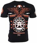AMERICAN FIGHTER Men T-Shirt CREST OF TRUTH Athletic BLACK Biker Gym MMA $40 image