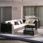 Hospitality Rattan Soho 6 Piece Sunbrella Sectional Set with Cushions