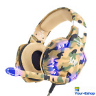 LED Stereo Gaming Headset Over Ear Headphones with Mic For PS4 Xbox One Laptop