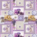 PVC TABLE CLOTH PROVENCE LAVENDER PURPLE LILAC TILES BUTTERFLY GINGHAM WIPE Expert