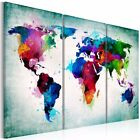 Unframed Canvas Prints Wall Art Painting Colorful World Map Home Decoration