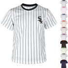 KH2008 Chicago White Sox Striped Baseball Jersey T-Shirts Uniform Dry Cool 0100 on Ebay