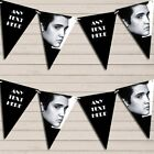 Black & White Elvis Presley Birthday Bunting Garland Personalised Flag Banner