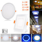 Dual Color White RGB LED Light Ceiling Fans Recessed Panel Downlight Spot Lamp